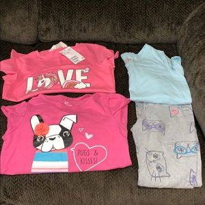 Other - 3 Girls Shirts 👚 and Cat Leggings 🐱